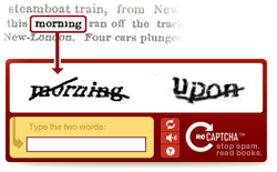 Blog Spammers and which CAPTCHA, 5 reviewed